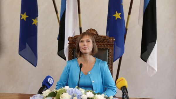 Prezydent Estonii Kersti Kaljulaid - Sputnik Polska