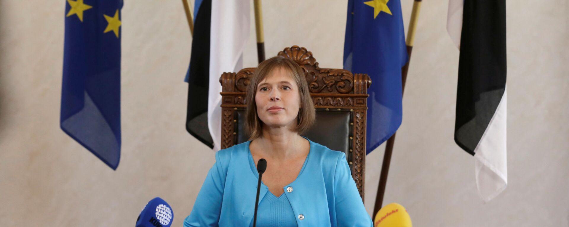Prezydent Estonii Kersti Kaljulaid - Sputnik Polska, 1920, 29.08.2021