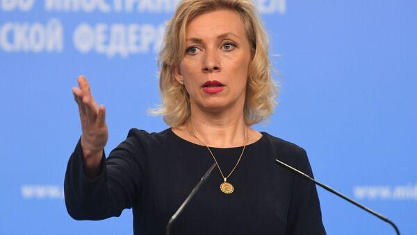 Oficjalny rzecznik MSZ Rosji Maria Zacharowa w czasie briefingu w Moskwie - Sputnik Polska