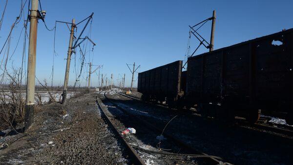 Zniszczone tory w ŁRL - Sputnik Polska
