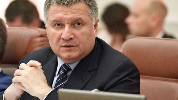Minister spraw wewnętrznych Ukrainy Arsen Awakow - Sputnik Polska
