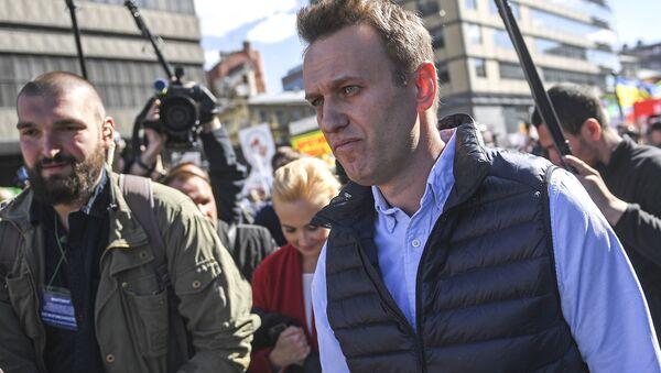 Opozycyjny polityk Aleksiej Nawalny - Sputnik Polska