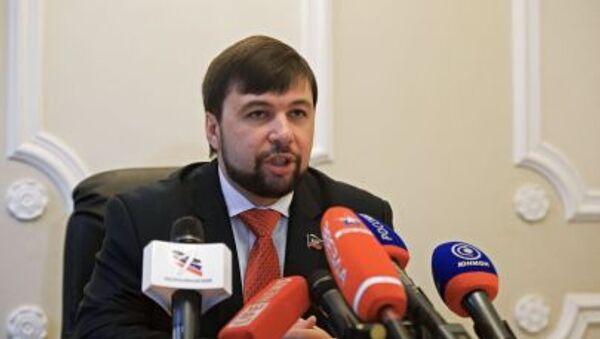 Wysłannik DRL w grupie kontaktowej ds. Ukrainy Denis Puszylin - Sputnik Polska