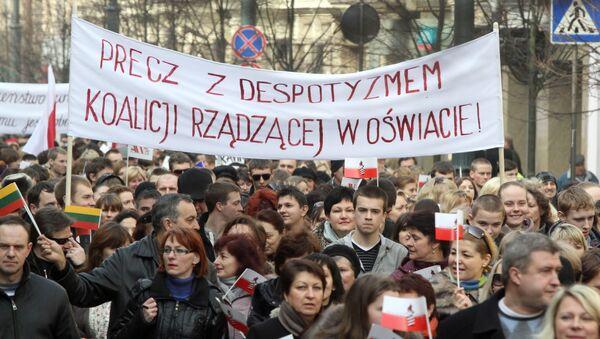 Akcja protestacyjna polskiej mniejszości narodowej w Wilnie - Sputnik Polska