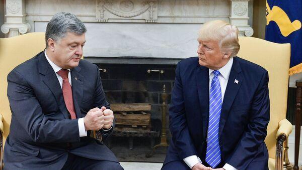 Petro Poroszenko i Donald Trump - Sputnik Polska