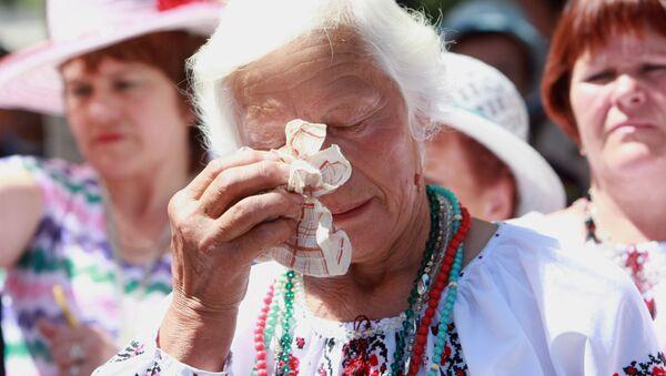 Protest przeciwko wojnie w Donbasie - Sputnik Polska