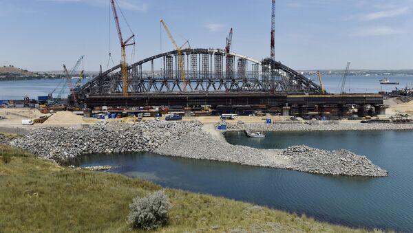 Budowa Mostu Krymskiego na Krymie - Sputnik Polska