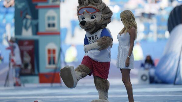 Oficjalna maskotka Mundialu w Rosji wilk Zabiwaka - Sputnik Polska