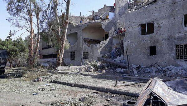 Zamach bombowy w Damaszku - Sputnik Polska