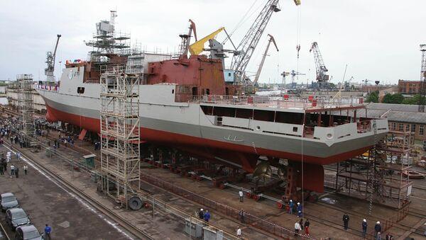 Wodowanie fregaty - Sputnik Polska