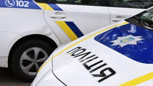 Samochód pracowników ukraińskiej policji - Sputnik Polska