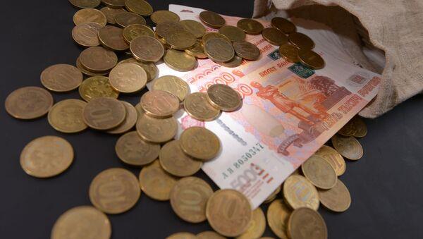 Rosyjskie banknoty i monety - Sputnik Polska