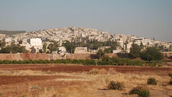 Widok na syryjskie miasto Afrin. Zdjęcie archiwalne - Sputnik Polska