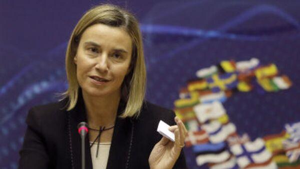 Wysoki przedstawiciel Unii do spraw zagranicznych i polityki bezpieczeństwa Federica Mogherini - Sputnik Polska