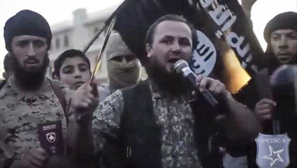 Jeden z przywódców Państwa Islamskiego Kosowianin Lavdrim Muhaxheri - Sputnik Polska