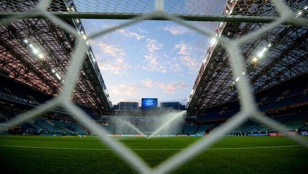 Pole piłkarskie stadionu Fiszt w Soczi - Sputnik Polska
