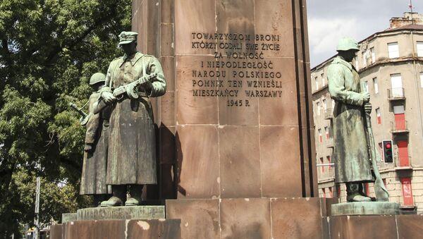 Pomnik Polsko-Radzieckiego Braterstwa Broni w Warszawie - Sputnik Polska