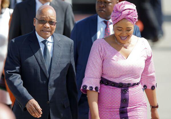 Prezydent Afryki Południowej Jacob Zuma z żoną - Sputnik Polska