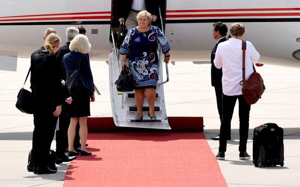 Premier Norwegii Erna Solberg - Sputnik Polska