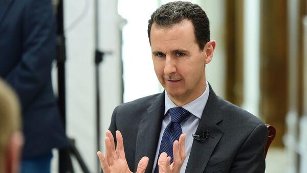 Prezydent Syrii Baszar al-Asad podczas wywiadu - Sputnik Polska