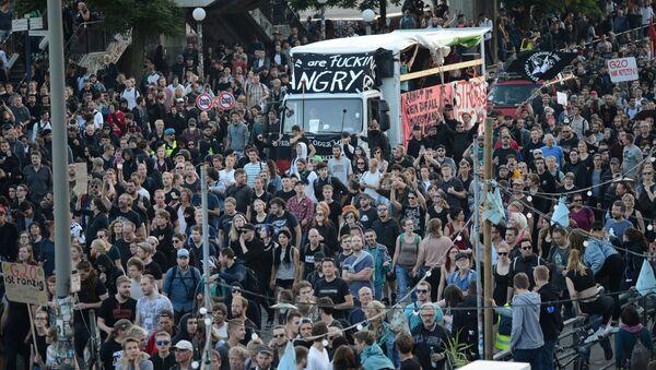 Protesty w Hamburgu - Sputnik Polska