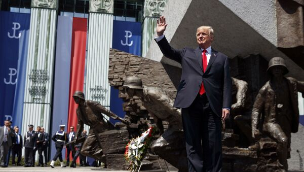 Donald Trump w Polsce - Sputnik Polska