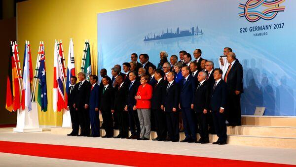 Liderzy G20 w Hamburgu - Sputnik Polska