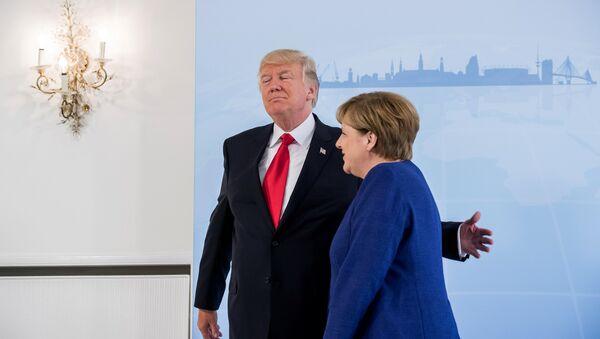 Donald Trump i Angela Merkel - Sputnik Polska