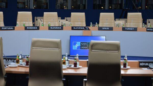 Sala konferencyjna na szczycie NATO w Warszawie - Sputnik Polska