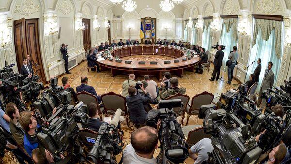 Заседание Совета национальной безопасности и обороны Украины, 2014 год - Sputnik Polska