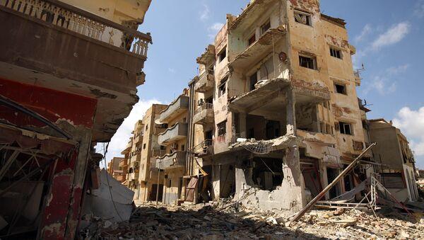 Ruiny w libijskim Bengazi - Sputnik Polska