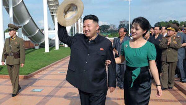 Kim Dzong Un z żoną - Sputnik Polska