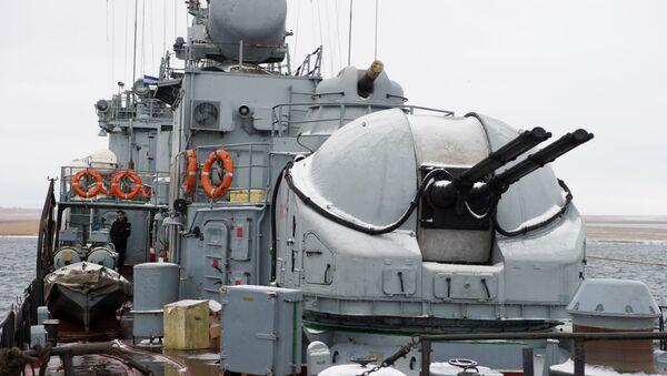 Mały okręt do zwalczania okrętów podwodnych Aleksandrowiec na Krymie - Sputnik Polska