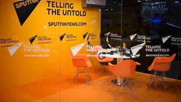 Studio radia Sputnik w Ekspoforum w przeddzień otwarcia Międzynarodowego Forum Ekonomicznego w Petersburgu-2017 - Sputnik Polska