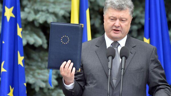 Petro Poroszenko na szczycie Ukraina-UE w Kijowie - Sputnik Polska