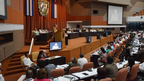 Kubański lider Raul Castro na posiedzeniu Zgromadzenia Narodowego Władzy Ludowej w Hawanie - Sputnik Polska