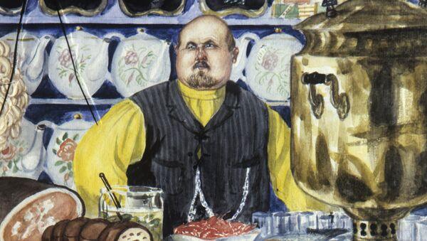 Obraz malarza Borisa Kustodijewa karczmarz. 1920 rok - Sputnik Polska