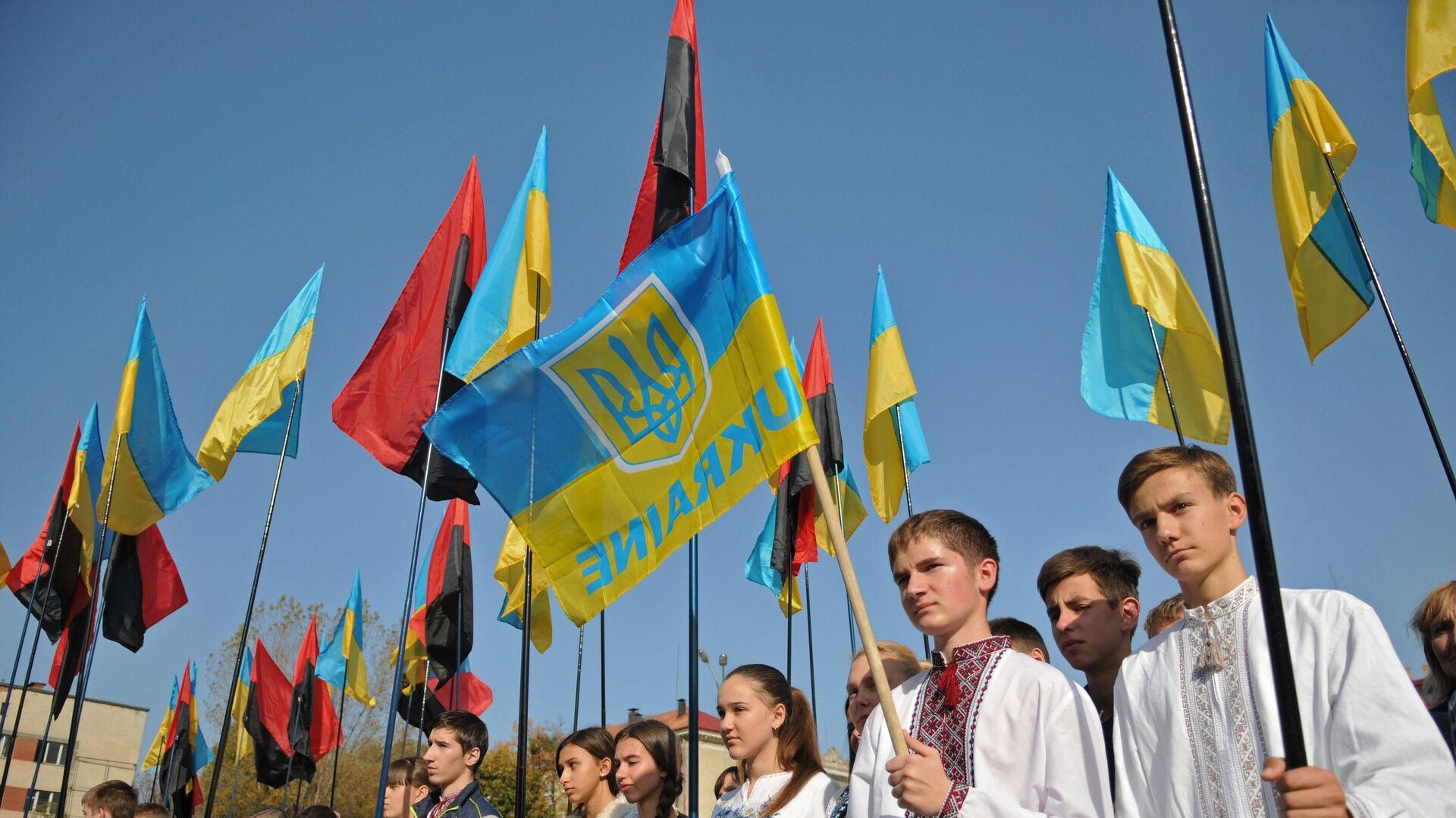 Uroczystości z okazji powstania UPA w Ukrainie - Sputnik Polska, 1920, 09.10.2021