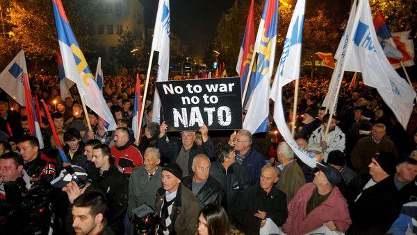 Demonstracja przeciwko NATO - Sputnik Polska