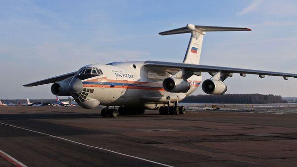 Samolot Ministerstwa Sytuacji Nadzwyczajnych Rosji Ił-76TD. Zdjęcie archiwalne - Sputnik Polska