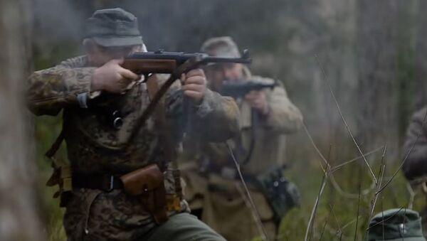 Kadr z filmu Leśni Bracia zrealizowanego przez dokumentalistów NATO - Sputnik Polska