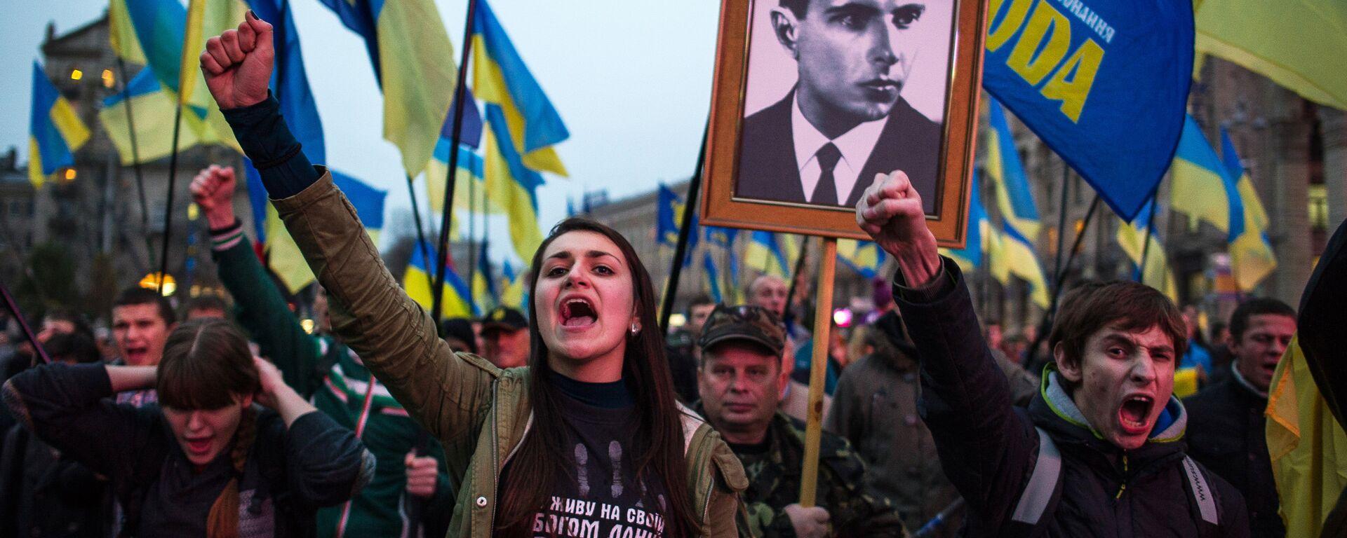 Marsz z okazji rocznicy powstania UPA - Sputnik Polska, 1920, 12.01.2021