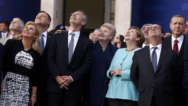 Andrzej Duda, Angela Merkel, Dalia Grybauskaite, Kolinda Grabar-Kitarovic,  Tayyip Erdogan w Warszawie - Sputnik Polska