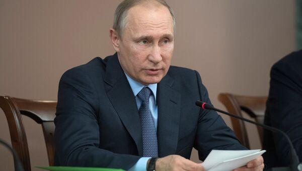 Prezydent Rosji Władimir Putin w czasie wizyty roboczej w Joszkar-Ole - Sputnik Polska