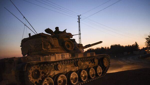 Turecki czołg przy granicy z Syrią - Sputnik Polska