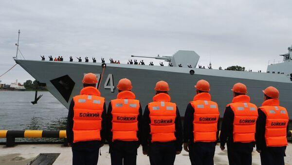 Uroczysta ceremonia powitalna grupy okrętów chińskiej marynarki wojennej w porcie Bałtyjsk - Sputnik Polska