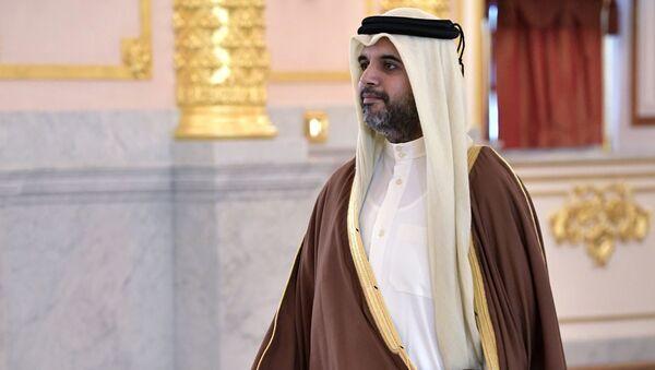 Nadzwyczajny i pełnomocny ambasador Kataru w Rosji Fahad Mohamed al-Attyja na ceremonii wręczenia listów uwierzytelniających na Kremlu - Sputnik Polska
