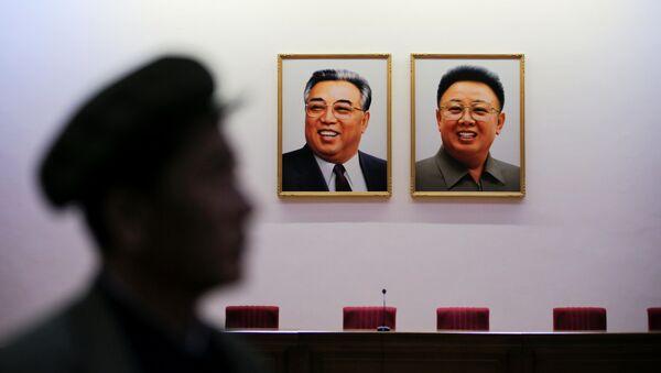 Portrety północnokoreańskich liderów - Sputnik Polska
