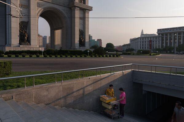 Ulice Pjongjangu - Sputnik Polska