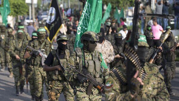 Skrzydło militarne organizacji Hamas w Palestynie - Sputnik Polska